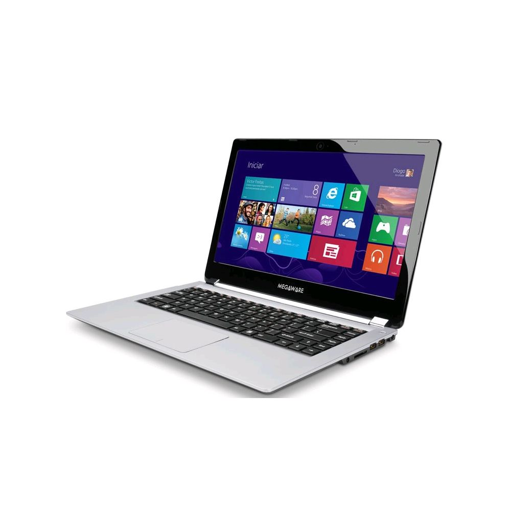 Ultrabook Megaware Horus com Intel Core i3 4GB 500GB + 32GB SSD LED 14