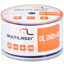 Mídia DVD+R Dual Layer 8.5GB 8x DV047 50Un - Multilaser