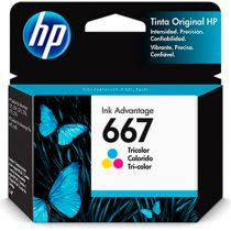 Cartucho de Tinta Ink Advantage 667 Colorido - HP