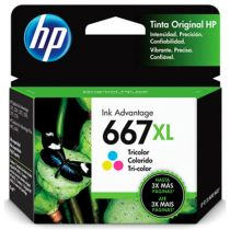 Cartucho de Tinta HP Advantage 667XL Colorido - HP