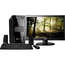 Computador Space BR com Intel Dual Core 4GB 1TB Linux + Monitor LED 19,5 Widescr