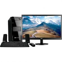 "Computador Space BR com Intel Dual Core 4GB 1TB Linux + Monitor AOC LED 21,5"" Wi"