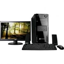 "Computador Space BR com Intel Dual Core 4GB 1TB Linux + Monitor LED 18,5"" Widesc"