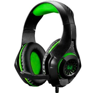 Headset Gamer P3 USB Adaptador P2 LED Verde PH299 - Warrior