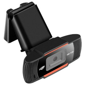Webcam Hd 720P Usb 2.0 com Microfone Preto - C3 Tech